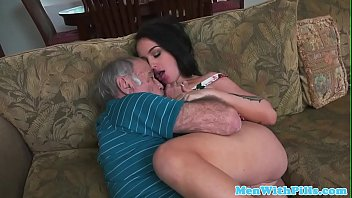 An 80 Year Old Boy Fucks A Very Sexy Young Brunette