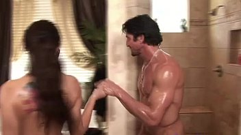 Soapy Massage Babe Teases Client