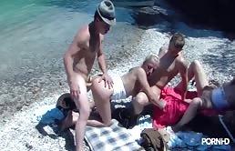 Wilden Sex Auf Dem Rand Des Sees