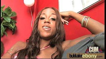 Black Pornstar Débuts Bukkake 26