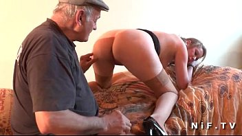 French Teen Ass Fucked While Blowing An Old Man