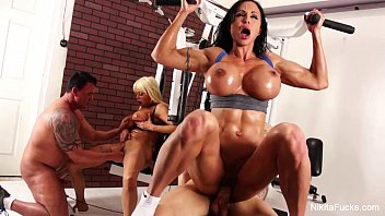 Xxx On With A Personal Trainer And Gets Fucked By Customers For Their