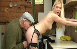Hard Sex Between Old Man And Young Woman