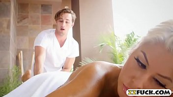 Sex With A Blonde Fucked In All Holes, When He Goes To The Massage
