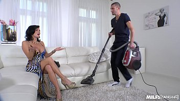 Brunette Milf Bestially Fucked By The Boy Who Cleans The House