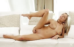 Tender Masturbation With Big Titted Blonde