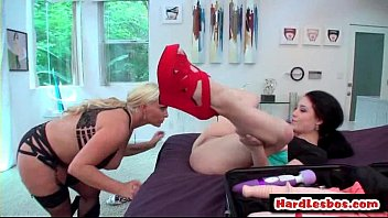Mean Lesbians Fucking A First Timer 19