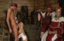 Busty Blonde Queen Fucked Hard In Front Of Her King