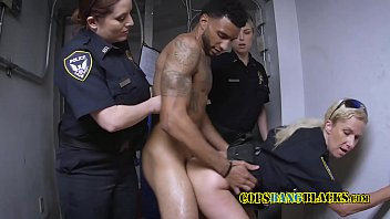Horny Milf Cops Take Suspect To Their Private Spot For A Banging