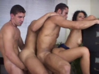 Three Gay Guys Fuck And Get Fucked In The Ass, And They're Making A Mockery Out Of A Woman