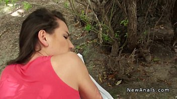 Sex Brunette Having Sex In The Bush