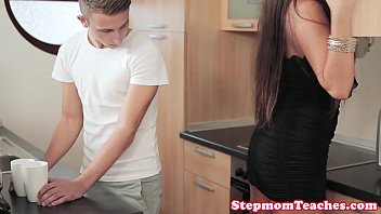 Porn In The Kitchen With Her Brother, She Fucks Her Sister's Provocative