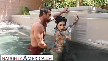 Sex In The Swimming Pool, Because A Dark-Haired Girl With The Tats