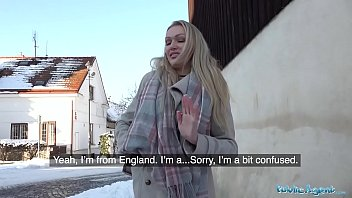 Sweet Blonde Is Fucking In The Snow In The Winter