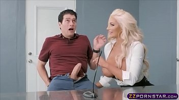 The Blonde Is Very Sugara Gets Fucked On A Chair