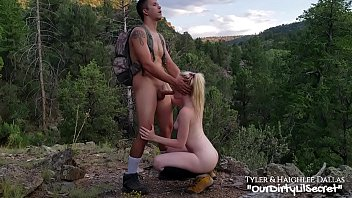 A Blonde Is In The Mountains Sucked My Dick In The Nature