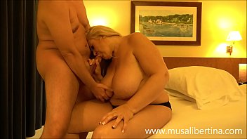Mature Fatty With Huge Boobs Does Blowjob Deep