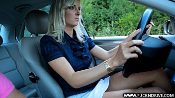 The Blonde Masturbates In The Car And Is Fucked By A Man