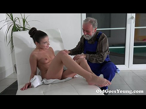 Old Goes Young - Old Man Is Very Grateful For Tight Teen Pussy