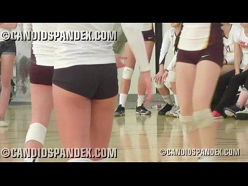Tiny Tight Spandex Volleyball Shorts