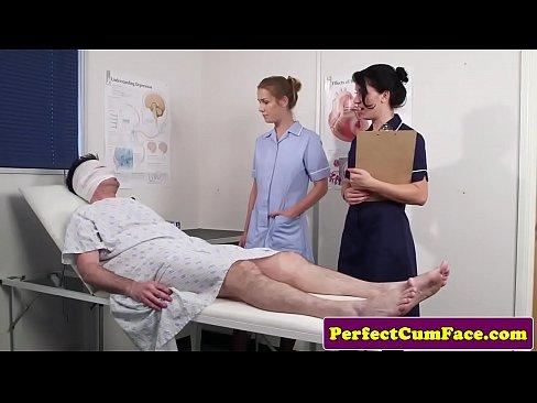 Cock Loving Nurses Get Facialized