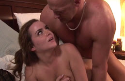 The Mature Bald Man Gives Her Cock And Cums On Her Ass