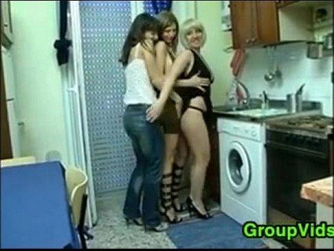 European Friends Have A Lesbian Threesome