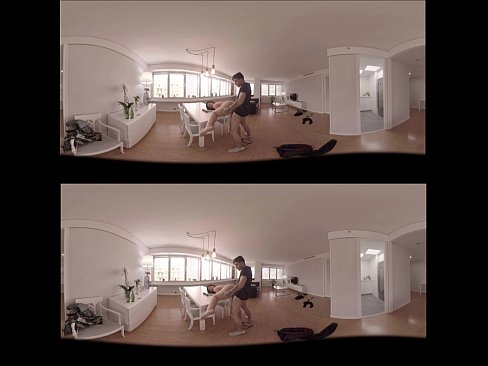 Vr Porn 360 Brunette Fucked On The Table