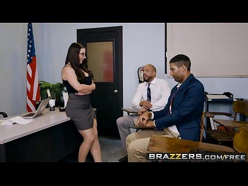 Brazzers - Big Tits At School - Parent Fucking Teacher Meetings Scene Starring Angela White And Karl