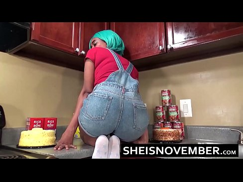 Step Brother Convinces Cute Step Sister Msnovember To Fuck In Kitchen Sex & Head
