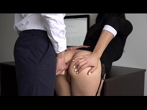 Anal Creampie For Sexy Slut Secretary, Boss Fucked Her Tight Pussy And Ass!