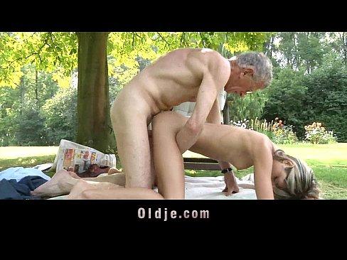 Oldman Fucks Nasty Skinny Blonde Teen Gina