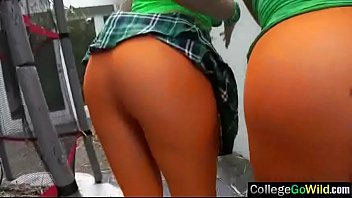 (Brooke & Lexi) College Lovely Girls Bang Hard In Group Action Clip-19