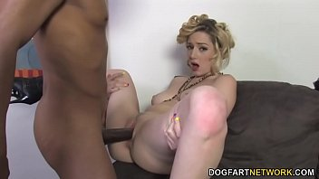 Pussy Wet Rubbed By A Black Man Who Fucks Her Good In The Ass Sex With Mature Blonde